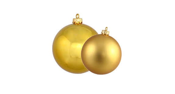 Gold Christmas Ball Ornaments