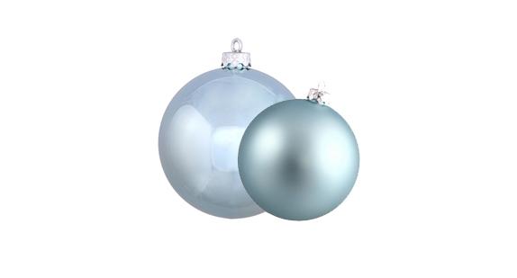 Ice Blue Christmas Ball Ornaments