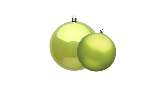 Lime Ball Ornaments