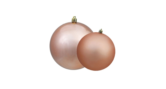 Rose Gold Christmas Ball Ornaments