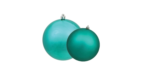 Teal Christmas Ball Ornaments
