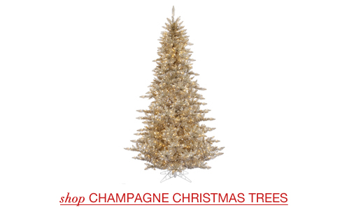 Champagne Christmas Trees