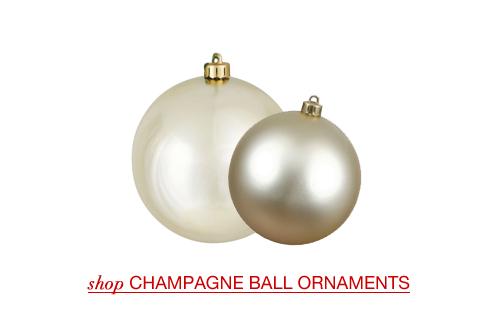 Champagne Christmas Ball Ornaments