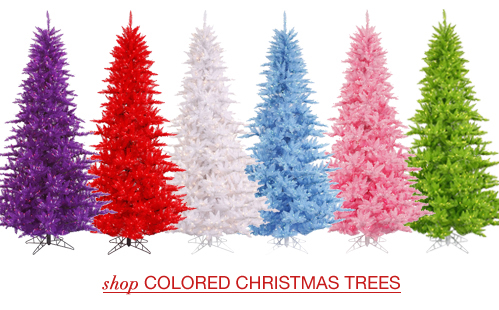 Artificial Christmas Tree With Colored Lights