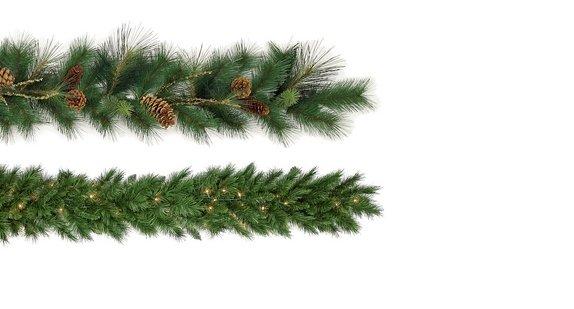 Green Christmas Garlands