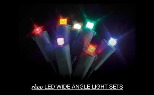 LED Wide Angle Light Strings
