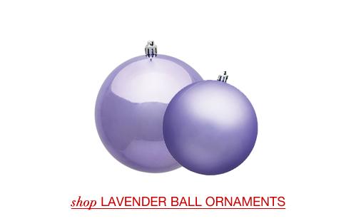 Lavender Ball Ornaments