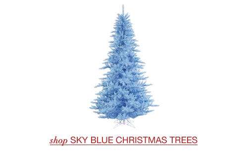 Sky Blue Christmas Trees