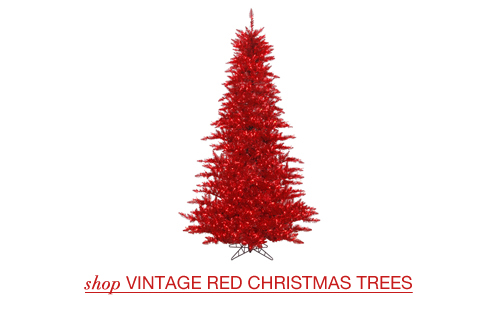 Vintage Red Christmas Trees