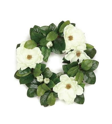 "Magnolia Blossom Wreath 20"""
