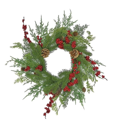 """Woodland Berry Table Wreath 16"""""""