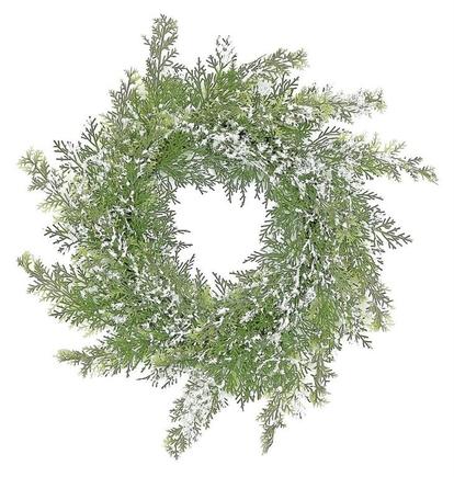 """Snow Dusted Cedar Wreath 24"""""""