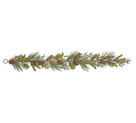 Metallic Bay Leaf Garland 6'