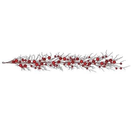 Ornament Twig Garland 6' Red