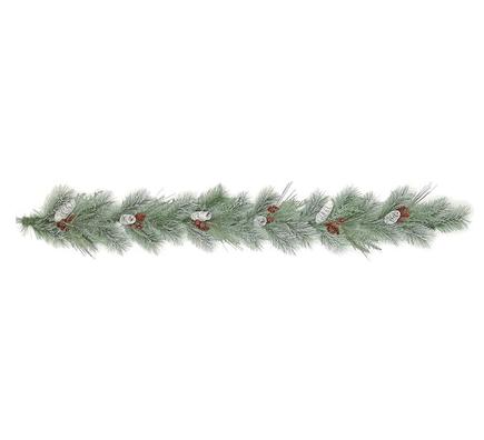 Frosted Sugar Pine Garland 6'