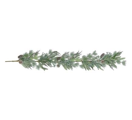 Silver Pine Garland 5'