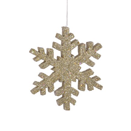 """Outdoor Snowflake 12"""" Set of 2 Champagne"""