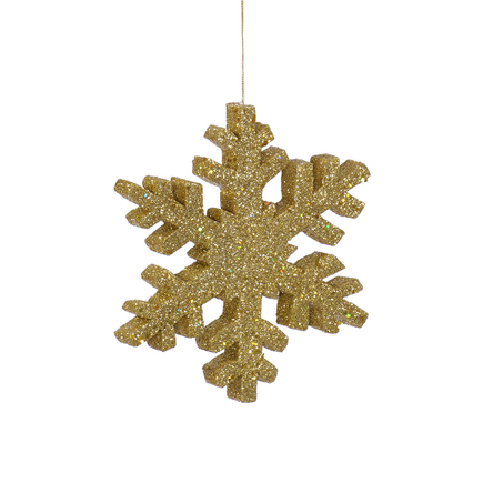 """Outdoor Snowflake 24"""" Set of 2 Gold"""