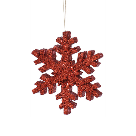 """Outdoor Snowflake 12"""" Set of 2 Red"""