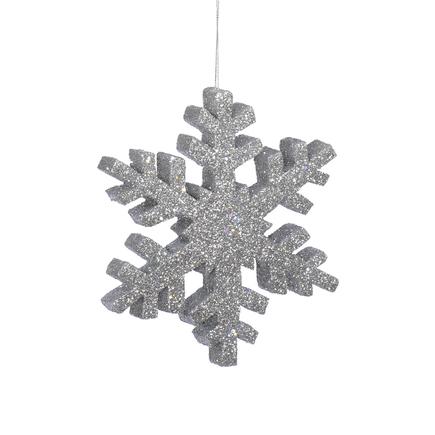 "Outdoor Snowflake 18"" Silver"