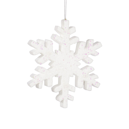 """Outdoor Snowflake 18"""" White"""