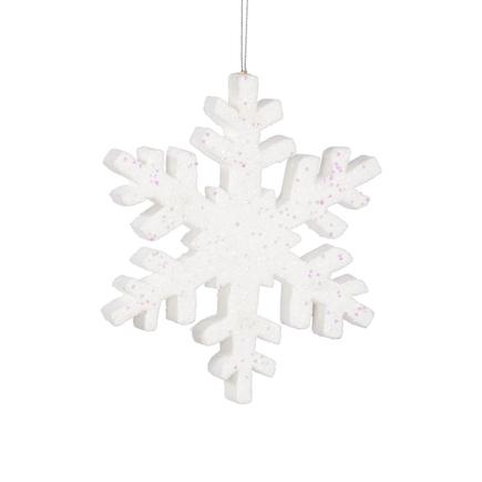 """Outdoor Snowflake 8"""" Set of 2 White"""