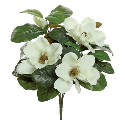 "Magnolia Blossoms 17"" Set of 12 Cream"