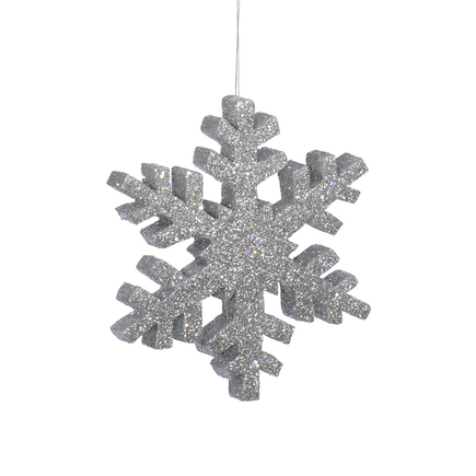 "Outdoor Snowflake 36"" Silver"