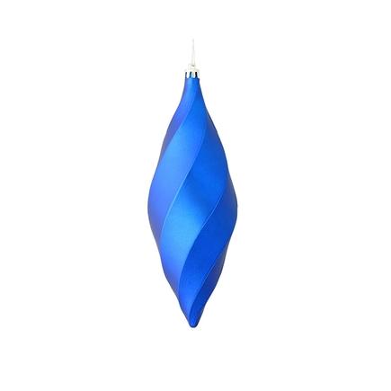 """Arielle Drop Ornament 8"""" Set of 6 Blue Matte"""