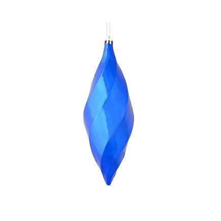 "Arielle Drop Ornament 8"" Set of 6 Blue Shiny"
