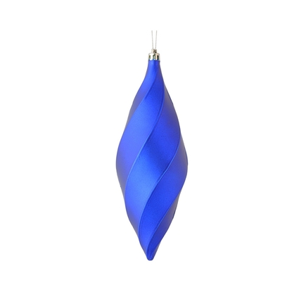 "Arielle Drop Ornament 8"" Set of 6 Cobalt Matte"