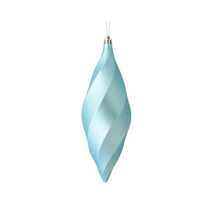 """Arielle Drop Ornament 8"""" Set of 6 Ice Blue Matte"""