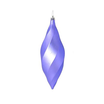 """Arielle Drop Ornament 8"""" Set of 6 Lavender Matte"""