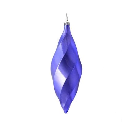 """Arielle Drop Ornament 8"""" Set of 6 Lavender Shiny"""