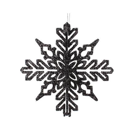 "Aurora 3D Snowflake 6"" Set of 3 Black"