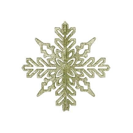 "Aurora 3D Snowflake 6"" Set of 3 Celadon"