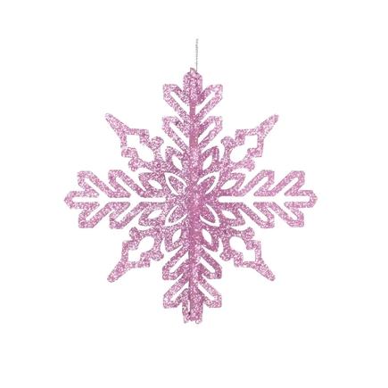 "Aurora 3D Snowflake 6"" Set of 3 Pink"