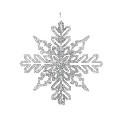 "Aurora 3D Snowflake 6"" Set of 3 Silver"