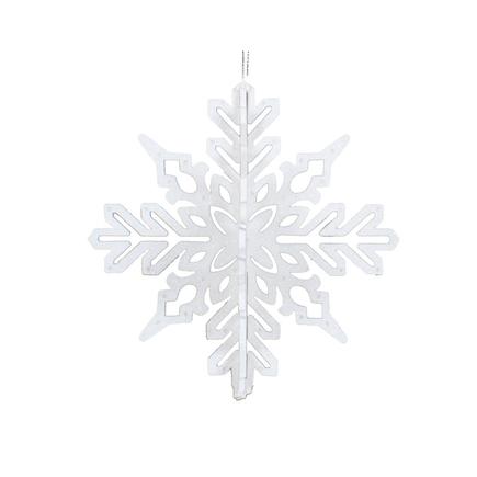 """Aurora 3D Snowflake 6"""" Set of 3 White"""