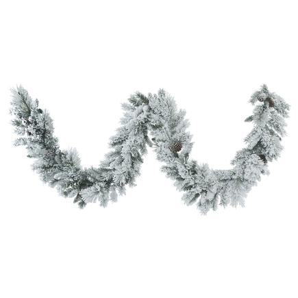 """Snow Forest Garland 9' x 12"""""""