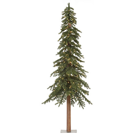 7' Beaver Creek Alpine Fir w/Clear Lights