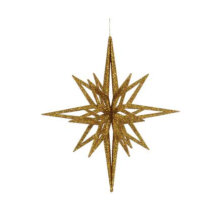 """Bethlehem Glitter Star 24"""" Gold"""