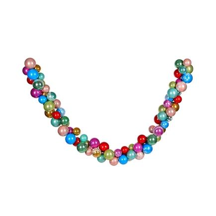 Bijou Ornament Garland 7' Multi Pearl