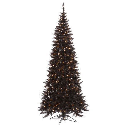 9' Black Fir Slim w/ LED Lights