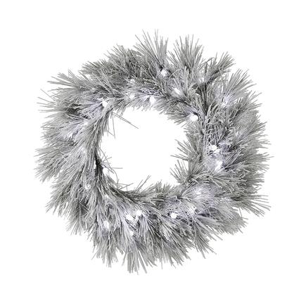 "Blizzard Pine Wreath LED 36"""