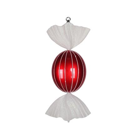 "Bonbon Peppermint Ornament 18.5"" Set of 2"