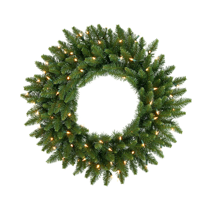 "Camdon Fir Wreath Prelit 24"""