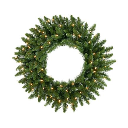 "Camdon Fir Wreath Prelit 30"""