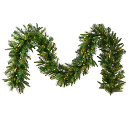 Green River Pine Garland LED 9' x 18""