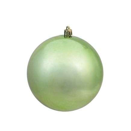 "Celadon Ball Ornaments 10"" Shiny Set of 2"